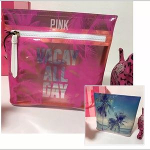 NEW PINK VS VACAY ALL DAY TRAVEL BAG CASE
